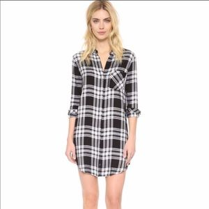 Anthro Ellison Plaid Oversized shirtdress S